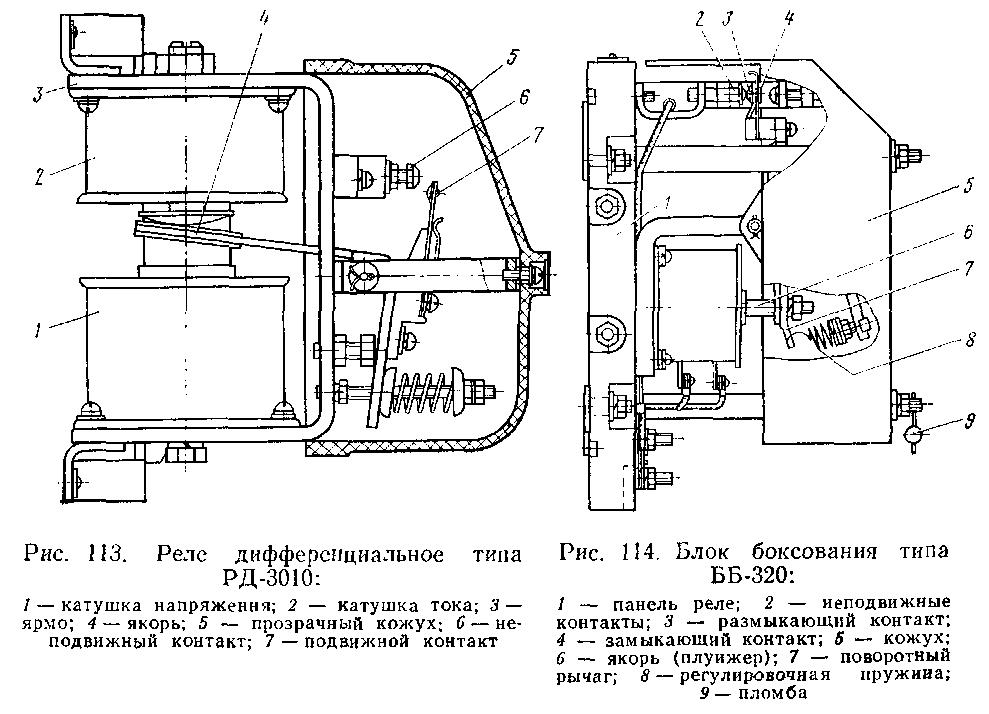 Принципиальная схема реле типа ВЛ-21.
