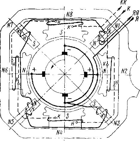 Схема соединения обмоток