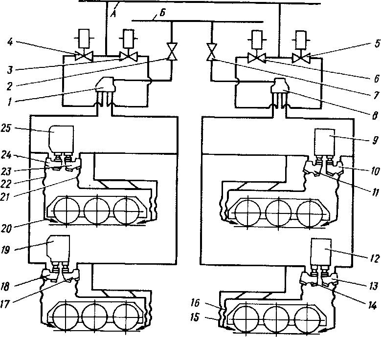 Схема тепловоза 2тэ116 5 вариант
