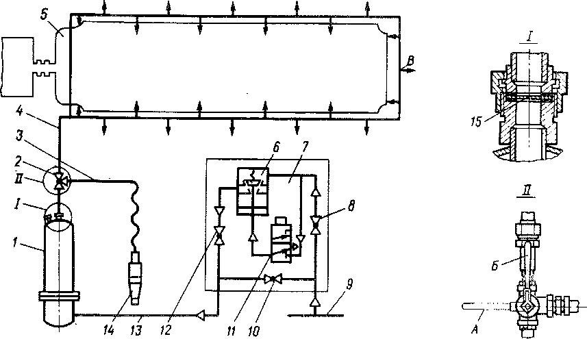 Схема установки порошкового