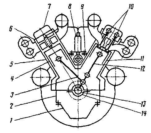 Схема дизеля типа М750
