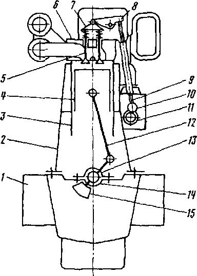 Схема дизеля типа ЗЮЭЯ