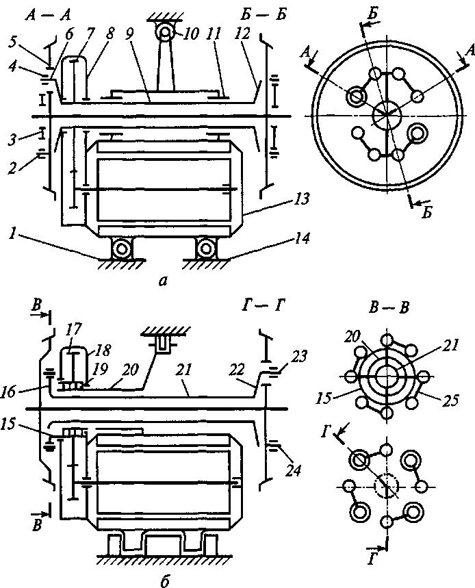 Схема опорно-рамной подвески