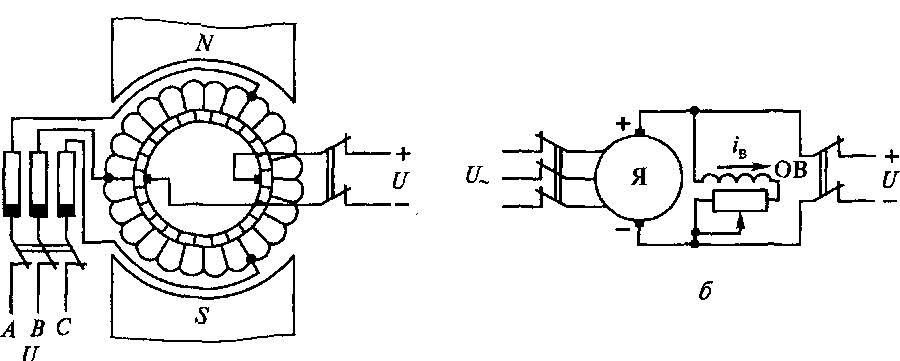 Электрическая схема переобразование.