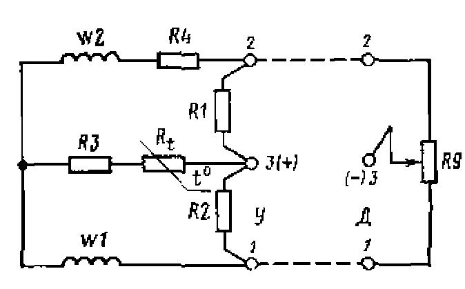 Схема электротермометра ТП-2: