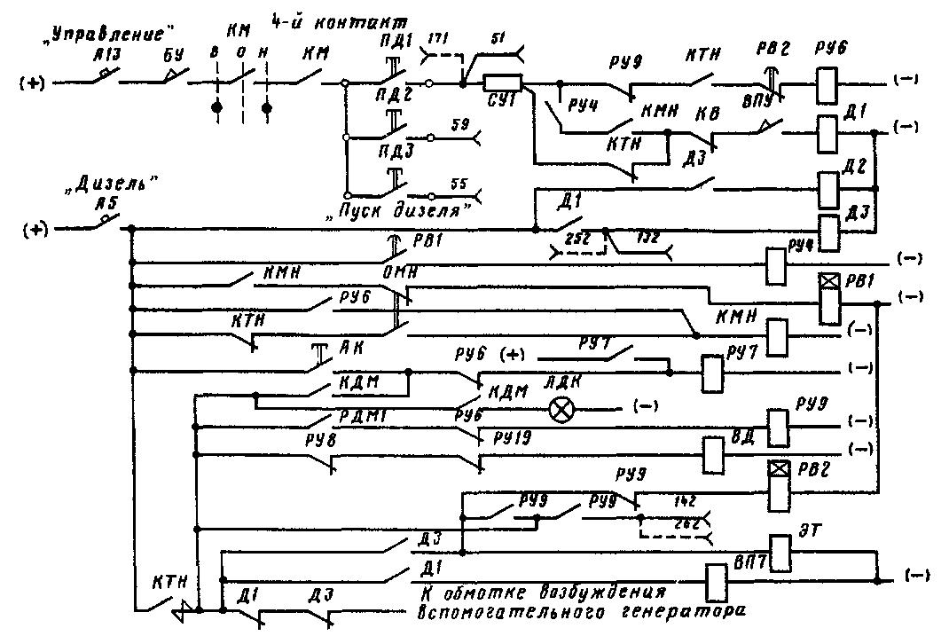 Рис 73 Принципиальная схема